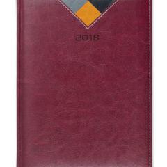 Kalendarz książkowy Combo Triangle bordowy