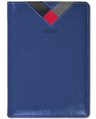 Kalendarz książkowy Combo Triangle granatowy / czarny / czerwony / szary