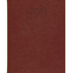 Kalendarz książkowy Elegant - ciemny brąz