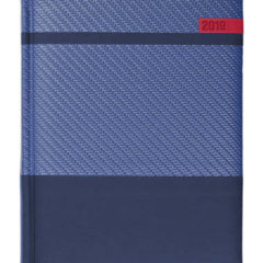 Kalendarz książkowy Karbon granatowy / granatowy / czerwony
