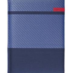 Kalendarz książkowy Karbon - granat/granat/czerwony