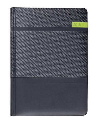 Kalendarz książkowy Karbon - grafit/czarny/oliwkowy