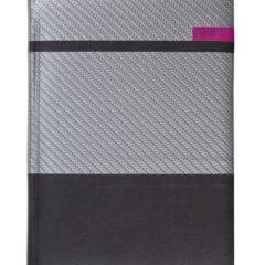 Kalendarz książkowy Karbon - srebrny/czarny/różowy