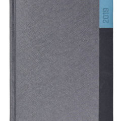 Kalendarz książkowy Moon szary / czarny / niebieski