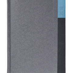 Kalendarz książkowy Moon srebrny/czerń/niebieski