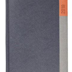 Kalendarz książkowy Moon grafitowy / szary / pomarańczowy