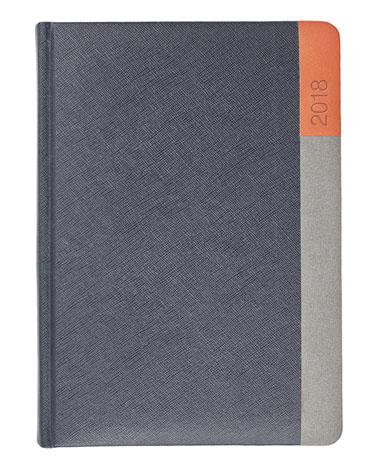 Kalendarz książkowy Moon grafit/szary/pomarańcz