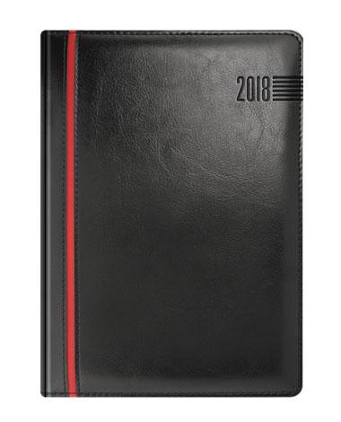 Kalendarz książkowy czarny z czerwonym