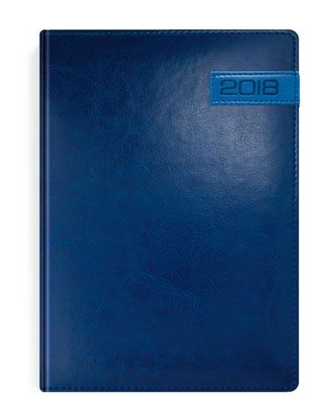 Kalendarz książkowy granatowy z niebieską wstawką
