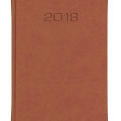 Kalendarz książkowy w matowej oprawie Classic - brązowa