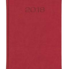 Kalendarz książkowy w matowej oprawie Classic - czerwona