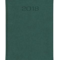 Kalendarz książkowy w matowej oprawie Classic - zielona