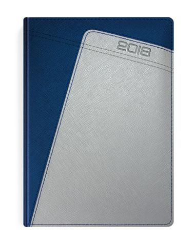 Kalendarz książkowy w oprawie metalizowanej granat i srebro