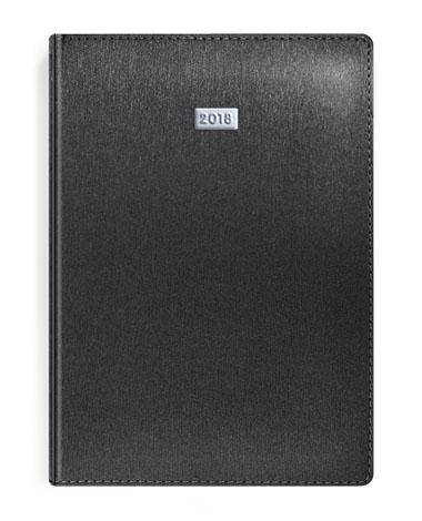 Kalendarz książkowy z metalizowany czarny
