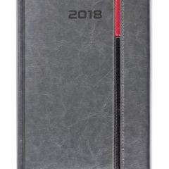Kalendarz książkowy z zapięciem na magnes Long - szary