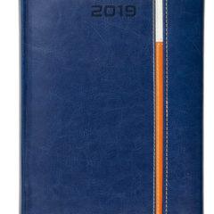 Kalendarz książkowy z zapięciem na magnes Long granat / biały / pomarańczowy