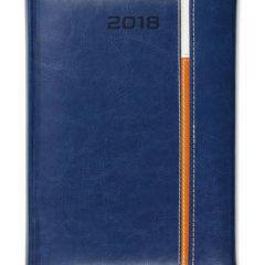 Kalendarz książkowy z zapięciem na magnes Long - granat