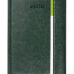 Kalendarz książkowy z zapięciem na magnes Long - zielony