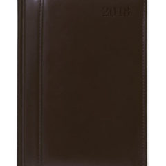 Kalendarz książkowy ze Skóry Naturalnej - brązowy