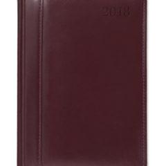Kalendarz książkowy ze Skóry Naturalnej - bordowy