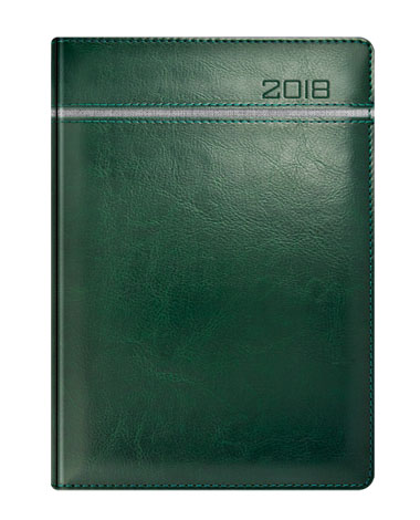 Kalendarz książkowy zielony z szarym