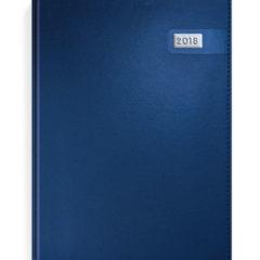 Kalendarz ksiązkowy metalizowany granatowy z blaszką