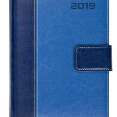 Kalendarz ksiażkowy z zapięciem na magnes Standard niebieski / granatowy
