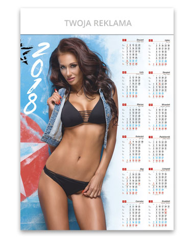 Kalendarz plakatowy Klaudia