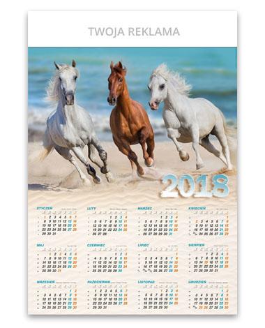 Kalendarz plakatowy b1 Konie