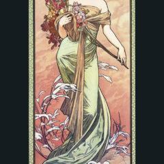 Kalendarz wieloplanszowy Alfons Mucha - okładka