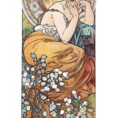 Kalendarz wieloplanszowy Alfons Mucha - przykładowa strona