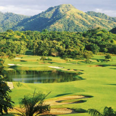 Costa Rica, Melia Playa Conchal, Beautiful Landscape Of Golf Course.
