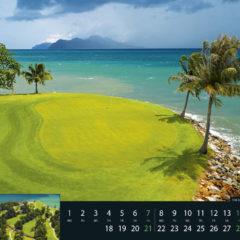 Kalendarz wieloplanszowy Golf - przykładowa strona