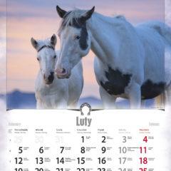 Kalendarz wieloplanszowy Konie - przykładowa strona