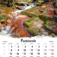 Kalendarz wieloplanszowy Polskie pejzaże - przykładowa strona