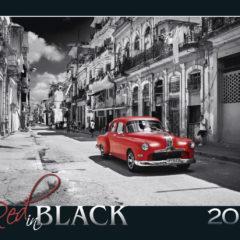 Kalendarz wieloplanszowy Red in black - okładka