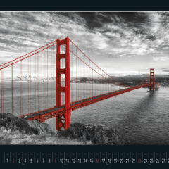 Kalendarz wieloplanszowy Red in black - przykładowa strona