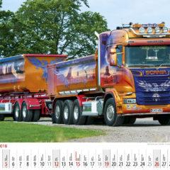 Kalendarz wieloplanszowy Trucks - przykładowa strona