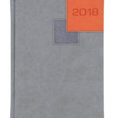 Kalendarze książkowe BI COLOR - vivela szara i pomarańczowa + cross grafitowy