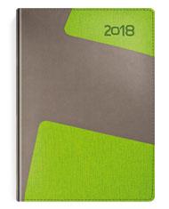 Kalendarze książkowe Bi kolor szary-zielony