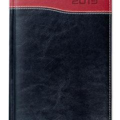 Kalendarz książkowy Combo Top czarny / czerwony