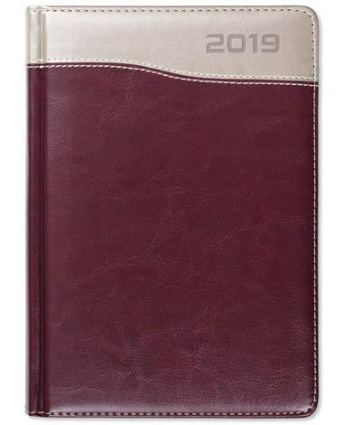 Kalendarz książkowy Combo Top bordowy / miedziany