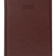 Kalendarz książkowy Elit brązowy