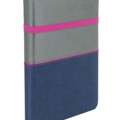 Kalendarz książkowy Zigo szaro-granatowy