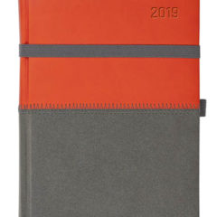 Kalendarz książkowy Zigo pomarańczowo-szary