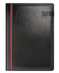 Kalendarze książkowe czarne z czerwonym