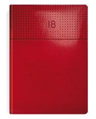 Kalendarze książkowe czerwone z przetłoczeniem