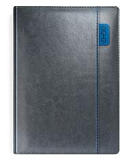 Kalendarze książkowe szare z niebieskimi elementami