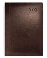 Kalendarze książkowe w oprawie brązowej