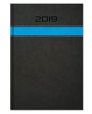 Kalendarze książkowe z szerokim ozdobnym paskiem